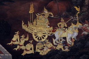 Mural from the Ramakien (Rāmāyana), at Bangkok's Wat Phra Kaew
