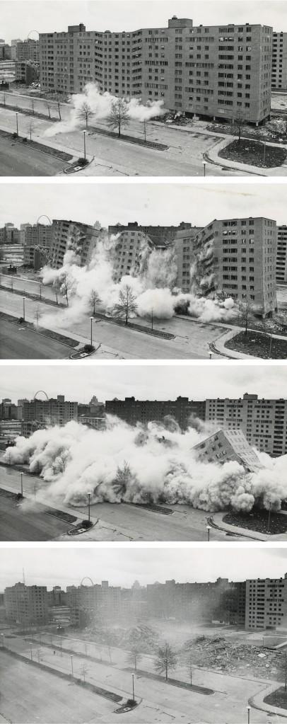 The demolition of Pruitt-Igoe