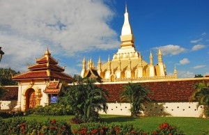 Pha That Luang in Laos, said to contain the Buddha's breast bone