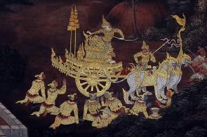Mural from the Ramakien (Rāmāyana), at Bangkok's Wat Phra Kaew